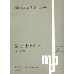 Tcherepnin, Alexander: Suite de ballet op.posth. : für 2 Klaviere und Schlagzeug Partitur