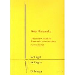 Planyavsky, Peter: 3 ernste Gespräche : für Cembalo und Orgelpositiv Spielpartitur