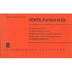 Deisenroth, Friedrich: Ventil-Fanfare in Es und Spielstücke für das erweiterte Fanfarenkorps mit Ventilfanfaren