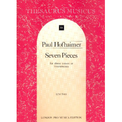 Hofhaimer, Paul: 6 Pieces for 3 instruments or voices score