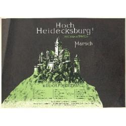 Herzer, Rudolf: Hoch Heidecksburg op.10 : Marsch für Zither solo (2 Zithern) Zither 2