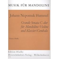 Hummel, Johann Nepomuk: Grande Sonata C-Dur : für Mandoline (Violine) und Klavier (Cembalo)