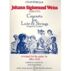 Weiss, Johann Sigismund: Concerto d minor for lute and strings : for lute and keyboard