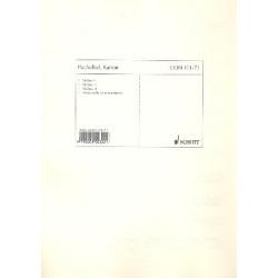 Pachelbel, Johann: Kanon : für 3 Violinen und Bc (Streichorchester) Stimmen