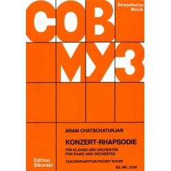 Chatschaturian, Aram: Konzert-Rhapsodie für Klavier und Orchester Studienpartitur