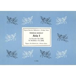 Morley, Thomas: Aria 1 : für 3 Blockflöten (SAB) Partitur und Stimmen