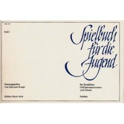 Spielbuch für die Jugend Band 1 : für Blockflöten, Orff-instrumentarium und Gitarre Partitur