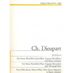 Dieupart, Charles Francois: Suite Nr.2 : für Tenorblockflöte und Cembalo
