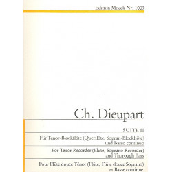 Dieupart, Charles Francois: Suite Nr.2 : f├╝r Tenorblockfl├Âte und Cembalo