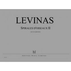Lévinas, Michael: Spirales d'oiseaux no.2 pour 3 euphoniums partition