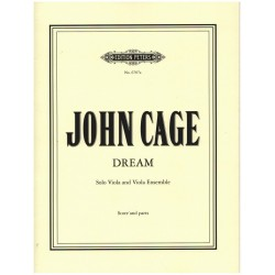 Cage, John: Dream : for solo viola and viola ensemble score+parts