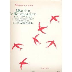 Boismortier, Joseph Bodin de: 6 SONATES A 2 VIOLES OP.10 CHARBONNIER, JEAN LOUIS, ED PARTITION