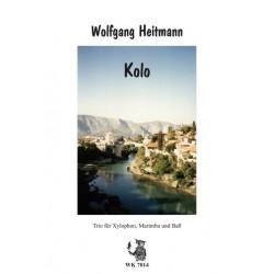 Heitmann, Wolfgang: Kolo für Xylophon, Marimbaphon und Bass Partitur und Stimmen