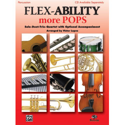 Flex-Ability more Pops : for 4 instruments (flexible ensemble) percussion score