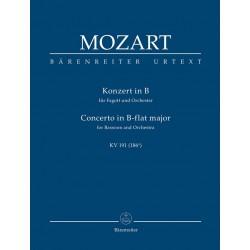 Mozart, Wolfgang Amadeus: Konzert B-Dur KV191 : für Fagott und Orchester Studienpartitur