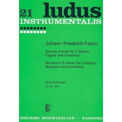 Fasch, Johann Friedrich: Sonate d-Moll : für 2 Oboen, Fagott und Bc