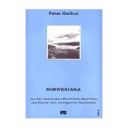 Heilbut, Peter: Norwegiana für 3 Blockflöten (Flöten) und Klavier