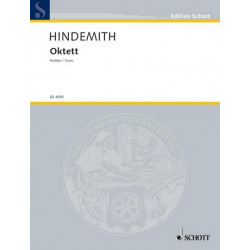 Hindemith, Paul: Oktett Studienpartitur