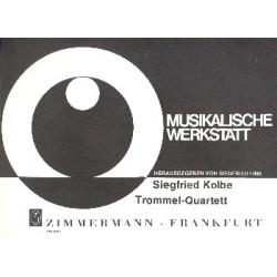 Kolbe, Siegfried: Trommel-Quartett für Snare Drum, Tom Tom, Bongos und Conga Partitur