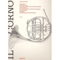 Haydn, Johann Michael: Concertino f├╝r 2 H├Ârner und Orchester : f├╝r 2 H├Ârner und Klavier