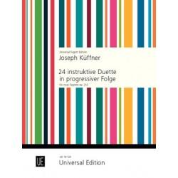Küffner, Joseph: 24 Duette : für 2 Fagotte Spielpartitur