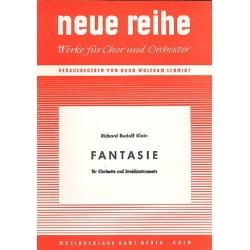 Klein, Richard Rudolf: Fantasie : für Klarinette und Streicher Partitur