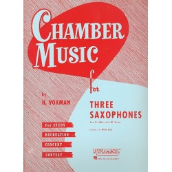 Chamber Music : for 3 saxophones score