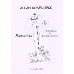 Rosenheck, Allan: Memories : 11 kurze Stücke für Blockflötenquartett Partitur