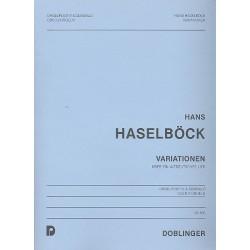 Haselböck, Hans: Variationen über ein altdeutsches Lied : für Cembalo und Orgelpositiv (2 Orgeln) Spielpartitur