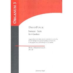 Funck, David: Sonaten-Suite für 4 Gamben Stimmen