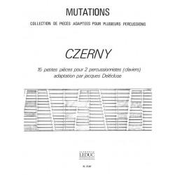 Czerny, Carl: 15 PETITES PIECES : POUR MARIM- BA OU VIBRAPHONE ET VIBRAPHONE OU MARIMBA 2PARTITIONS