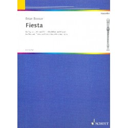 Bonsor, James Brian: Fiesta : for 3 recorders (SAT) and piano
