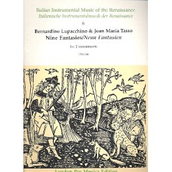 9 Fantasies by Bernardo Lupacchino and Joan Maria Tasso : for 2 instruments, score