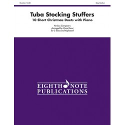Various Composers Tuba Stocking Stuffers - 10 Short Christmas Duets with Piano for 2 tubas and piano