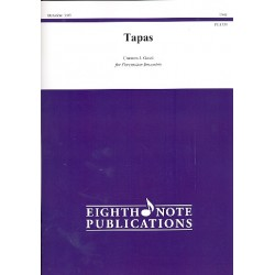 Gassi, Carmen J.: Tapas : for percussion ensemble (8 players) score and parts