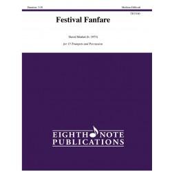 Marlatt, David: Festival Fanfare : for 15 trumpets and percusion score and parts