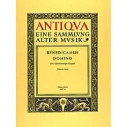 Anonymus: Benedicamus Domino : 3 Singstimmen (SABar) mit Bläsern oder Streichern ad libitum Sing- und Spielpartitur