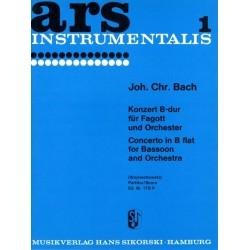 Bach, Johann Christian: KONZERT B-DUR : FUER FAGOTT UND OR- CHESTER PARTITUR
