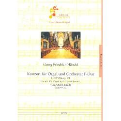 Händel, Georg Friedrich: Konzert F-Dur op.4,4 HWV292 für Orgel und Orchester für Orgel und Blasorchester Partitur