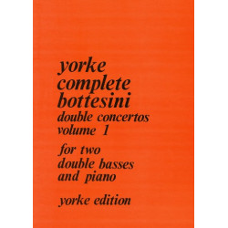 Bottesini, Giovanni: Double Concertos vol.1 for 2 double basses and piano parts