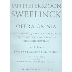Sweelinck, Jan Pieterszon: Opera omnia vol.1 fasc.2 keyboard works : Settings of Sacred Melodies