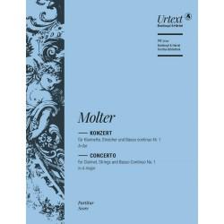 Molter, Johann Melchior: Konzert A-Dur Nr.1 : für Klarinette und Streicher Partitur