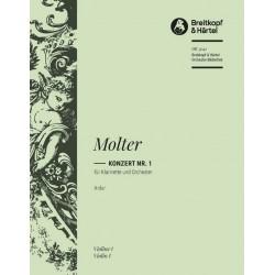 Molter, Johann Melchior: Konzert A-Dur Nr.1 : für Klarinette und Streicher Violine 1