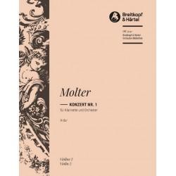 Molter, Johann Melchior: Konzert A-Dur Nr.1 : für Klarinette und Streicher Violine 2