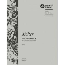 Molter, Johann Melchior: Konzert A-Dur Nr.1 : für Klarinette und Streicher Viola
