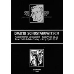Schostakowitsch, Dimitri: Aus jiddischer Volkspoesie op.79 Liedzyklus für Sopran, Alt, Tenor und Klavier (ru/dt)