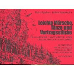 Halters Tourenheft Band 1 für Mandolinenorchester Mandoline 1