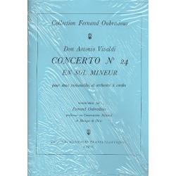 Vivaldi, Antonio: Konzert g-Moll Nr.24 f├╝r 2 Violoncelli und Streichorchester : f├╝r 2 Violoncelli und Klavier Stimmen,