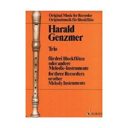 Genzmer, Harald: Trio : für 3 Blockflöten (SAA) oder andere Melodieinstrumente Partitur