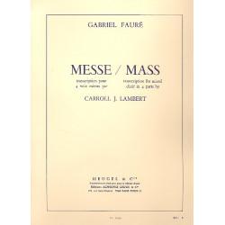 Faur├®, Gabriel Urbain: Messe basse : Transcription pour 4 voix mixtes avec piano partition